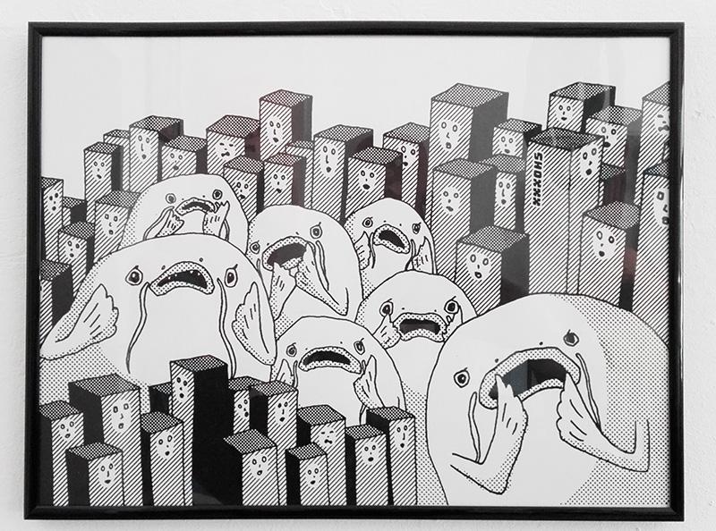 "print ""curious catfish"" von SHOXXX"