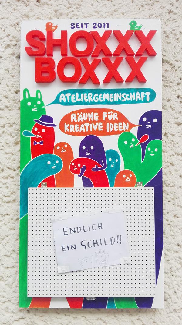 SHOXXXBOXXX sign board